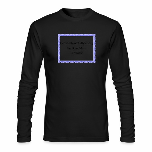 Franklin Mass townie certificate of authenticity - Men's Long Sleeve T-Shirt by Next Level