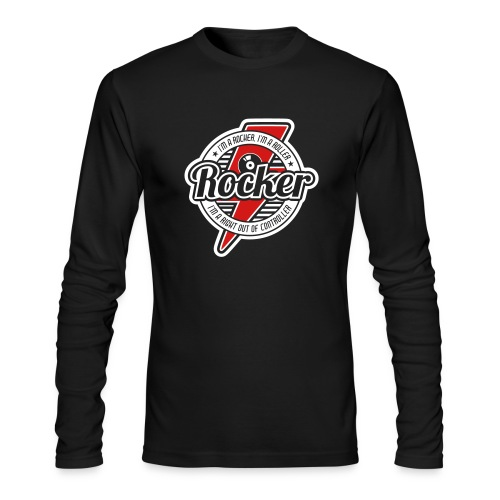 Rocker-red-2c - Men's Long Sleeve T-Shirt by Next Level