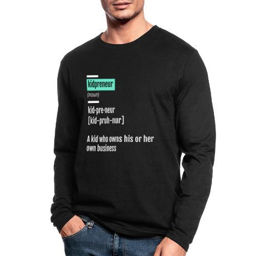 Kidpreneur Definition Logo - Men's Long Sleeve T-Shirt by Next Level
