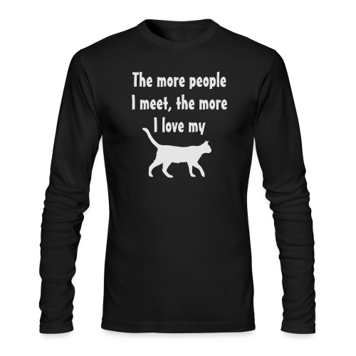 I love my cat - Men's Long Sleeve T-Shirt by Next Level