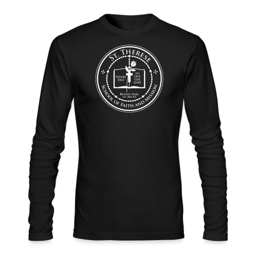 STS School Crest lineart white png - Men's Long Sleeve T-Shirt by Next Level