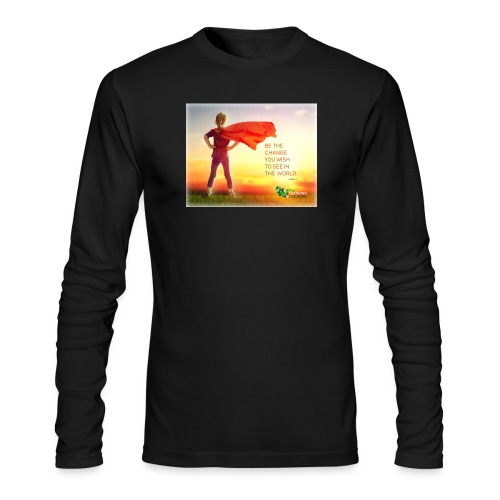 Education Superhero - Men's Long Sleeve T-Shirt by Next Level