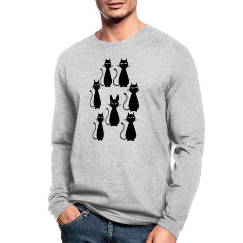 Cats and a cat with rabbit ears - Men's Long Sleeve T-Shirt by Next Level