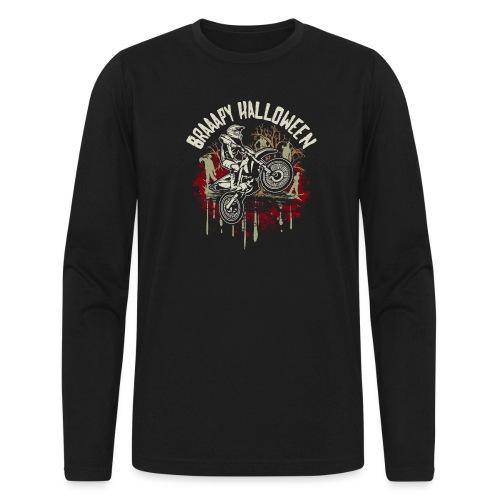 Dirt Bike Happy Halloween - Men's Long Sleeve T-Shirt by Next Level