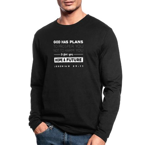 Jeremiah 29:11 shirt: Hope and future - Men's Long Sleeve T-Shirt by Next Level