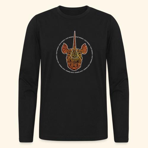 Dust Rhinos Orange Knotwork - Men's Long Sleeve T-Shirt by Next Level