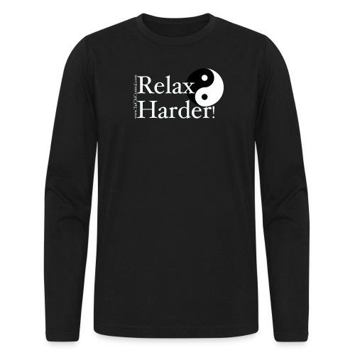 relaxharderdesign_editedneg - Men's Long Sleeve T-Shirt by Next Level