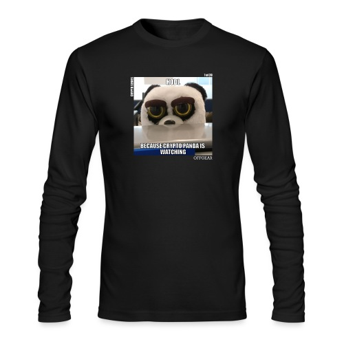 Crypto Panda Is Watching (Crypto Series) - Men's Long Sleeve T-Shirt by Next Level