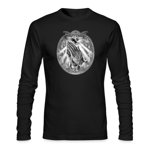 Praying Hands by RollinLow - Men's Long Sleeve T-Shirt by Next Level