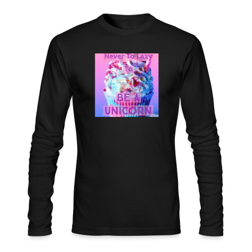Never To Lazy To Be A Unicorn - Men's Long Sleeve T-Shirt by Next Level
