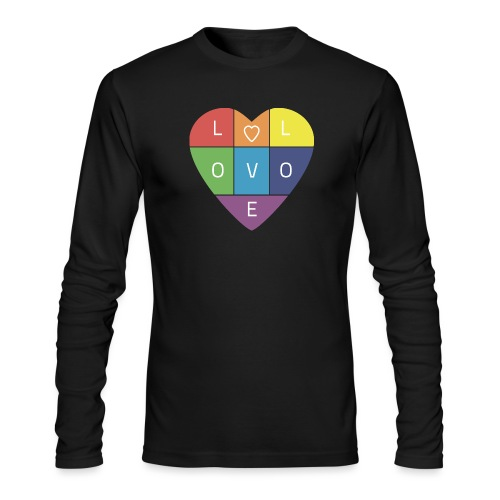 Rainbow Heart - Men's Long Sleeve T-Shirt by Next Level