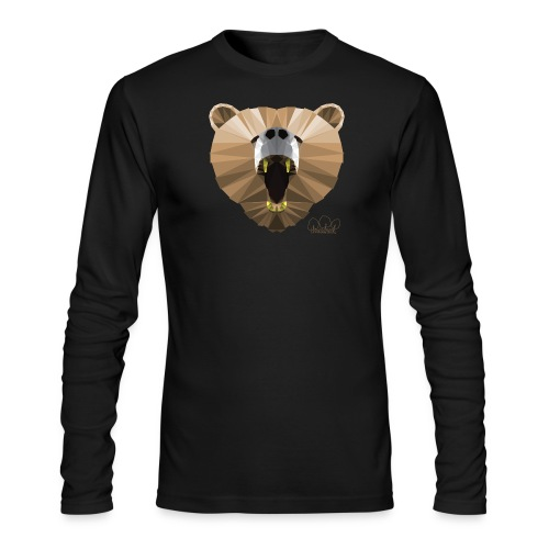 Hungry Bear Women's V-Neck T-Shirt - Men's Long Sleeve T-Shirt by Next Level