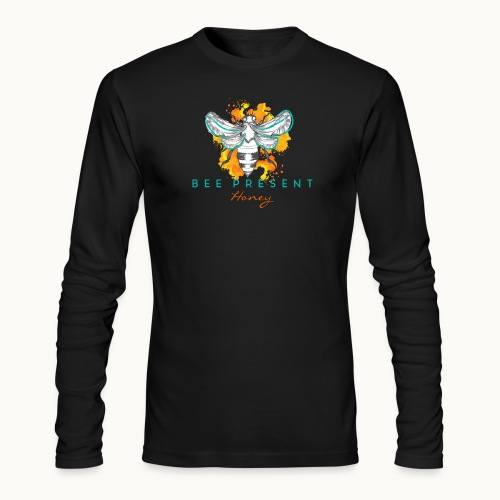 Bee Present Honey Tee - Men's Long Sleeve T-Shirt by Next Level