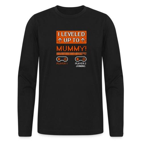 I Leveled Up To Mummy - Men's Long Sleeve T-Shirt by Next Level