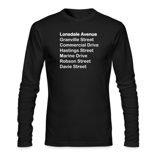 Street Names White Text - Men's Long Sleeve T-Shirt by Next Level