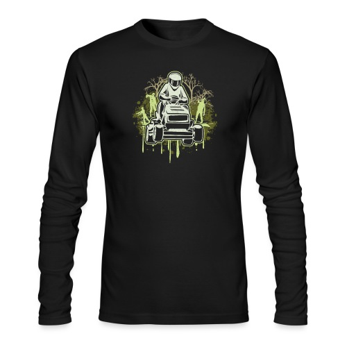 Lawn Mower Racing Zombies - Men's Long Sleeve T-Shirt by Next Level
