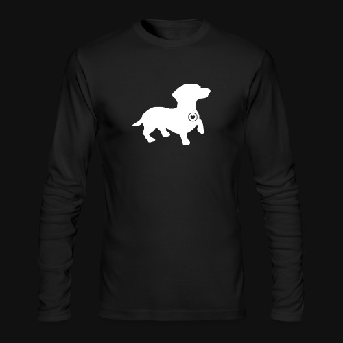 Dachshund silhouette white - Men's Long Sleeve T-Shirt by Next Level