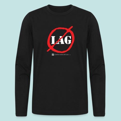 No Lag (white) - Men's Long Sleeve T-Shirt by Next Level