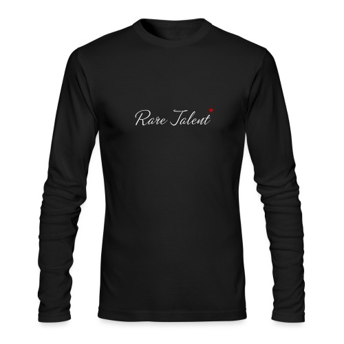 Rare Talent White Text - Men's Long Sleeve T-Shirt by Next Level