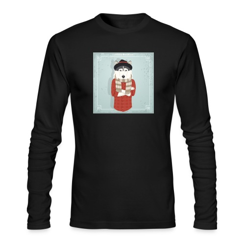 Hispter Dog - Men's Long Sleeve T-Shirt by Next Level