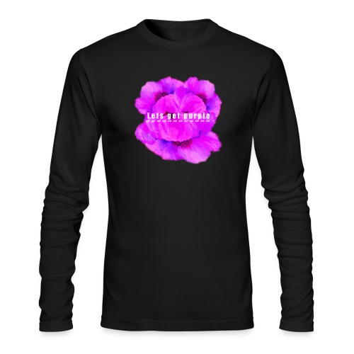 lets_get_purple_2 - Men's Long Sleeve T-Shirt by Next Level