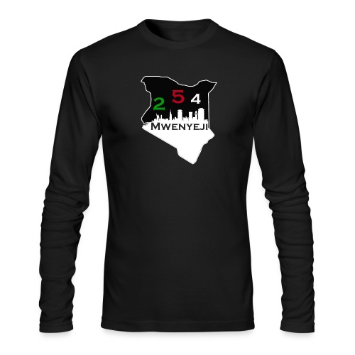 Mwenyeji Wa Kenya - Men's Long Sleeve T-Shirt by Next Level