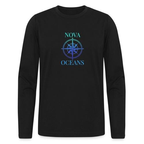 logo_nova_oceans - Men's Long Sleeve T-Shirt by Next Level