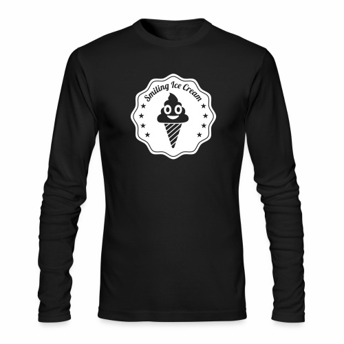 Smiling Ice Cream Batch - Men's Long Sleeve T-Shirt by Next Level