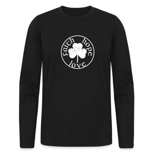Irish Shamrock Faith Hope Love - Men's Long Sleeve T-Shirt by Next Level