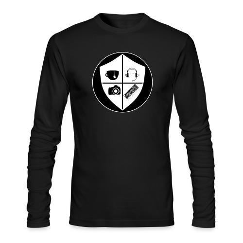 Punk Who Drinks Tea Crest (Inverted) - Men's Long Sleeve T-Shirt by Next Level