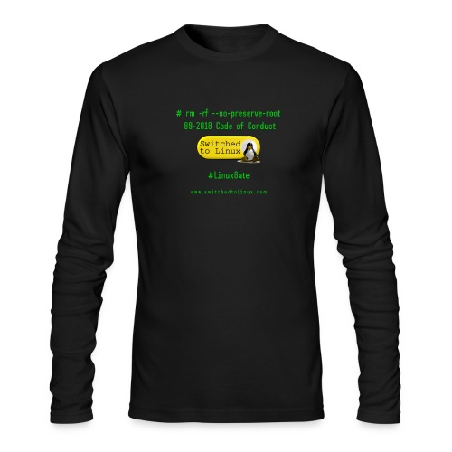 rm Linux Code of Conduct - Men's Long Sleeve T-Shirt by Next Level