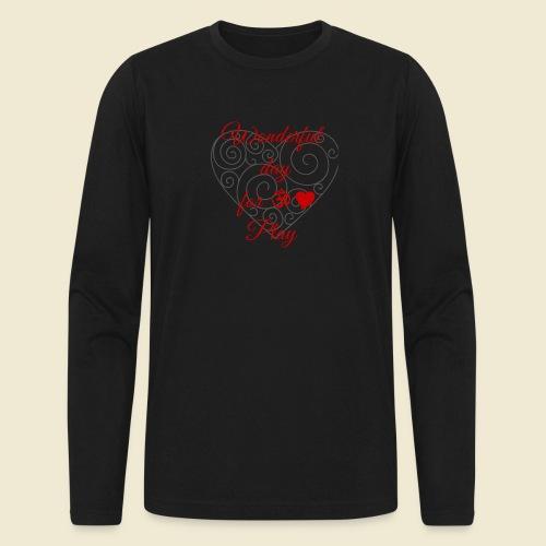 108-lSa Inspi-Shirt-85.b ... for OM-Love Play - Men's Long Sleeve T-Shirt by Next Level