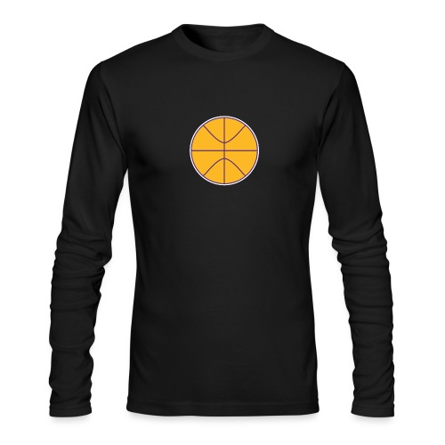 Basketball purple and gold - Men's Long Sleeve T-Shirt by Next Level