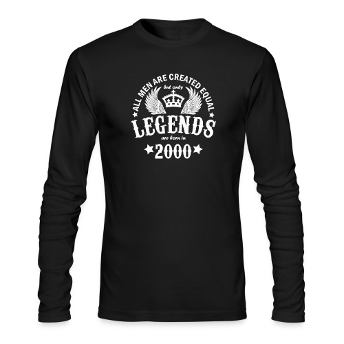 Legends are Born in 2000 - Men's Long Sleeve T-Shirt by Next Level