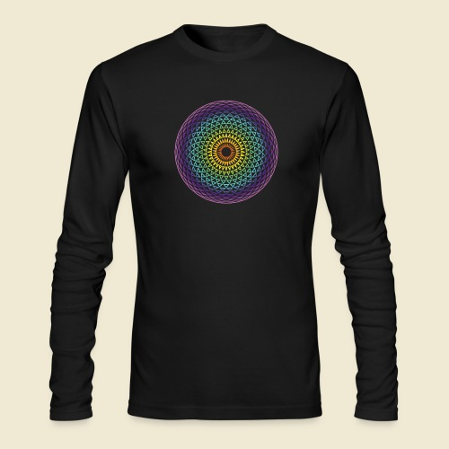 Torus Yantra Hypnotic Eye rainbow - Men's Long Sleeve T-Shirt by Next Level