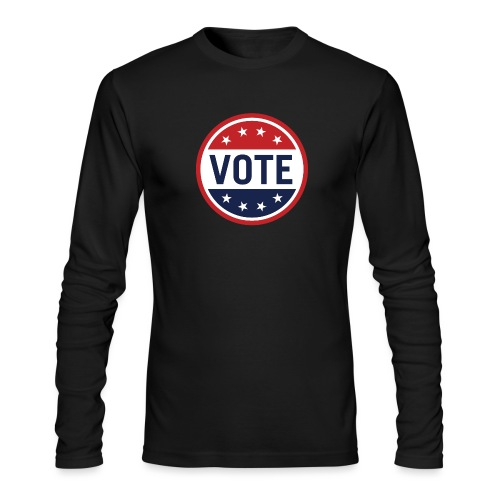Vote Red, White and Blue with Stars - Men's Long Sleeve T-Shirt by Next Level