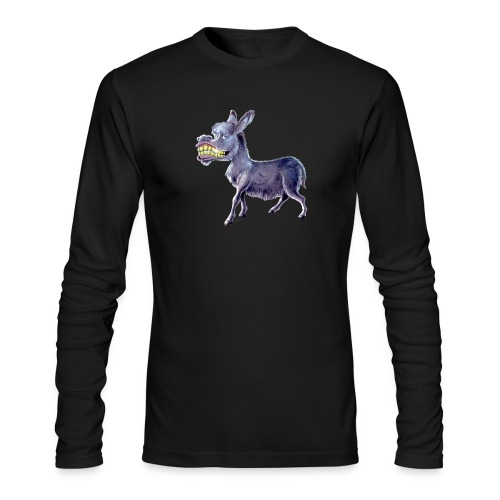 Funny Keep Smiling Donkey - Men's Long Sleeve T-Shirt by Next Level