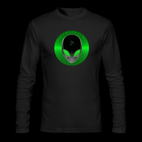 Psychedelic Alien Dolphin Green Cetacean Inspired - Men's Long Sleeve T-Shirt by Next Level