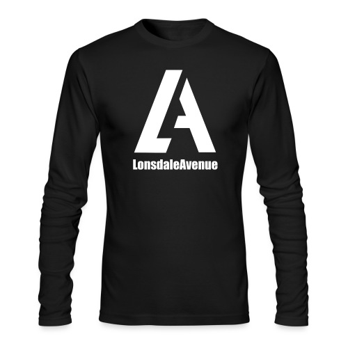 Lonsdale Avenue Logo White Text - Men's Long Sleeve T-Shirt by Next Level