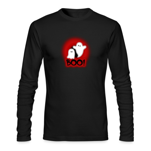 Ghosties Boo Happy Halloween 1 - Men's Long Sleeve T-Shirt by Next Level