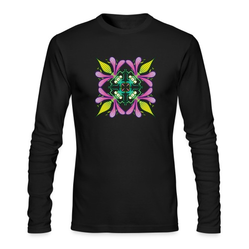Glowing insects meeting in the middle of the night - Men's Long Sleeve T-Shirt by Next Level