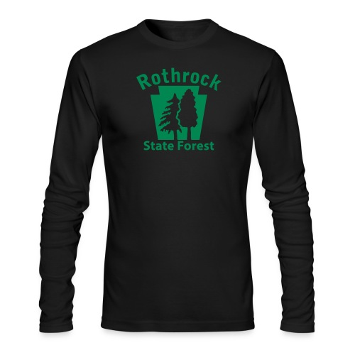 Rothrock State Forest Keystone (w/trees) - Men's Long Sleeve T-Shirt by Next Level