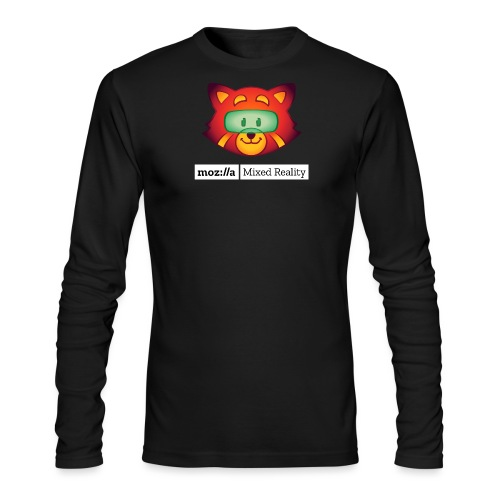 Foxr Head (white MR logo) - Men's Long Sleeve T-Shirt by Next Level