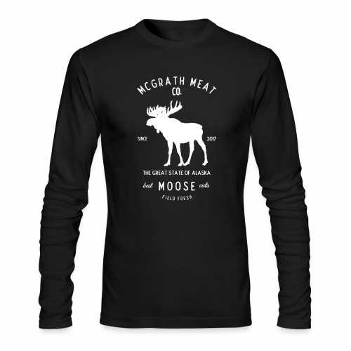 McGrath Meat Company White Stamp Logo - Men's Long Sleeve T-Shirt by Next Level