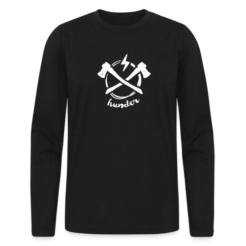 woodchipper back - Men's Long Sleeve T-Shirt by Next Level