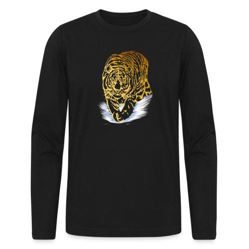 Golden Snow Tiger - Men's Long Sleeve T-Shirt by Next Level