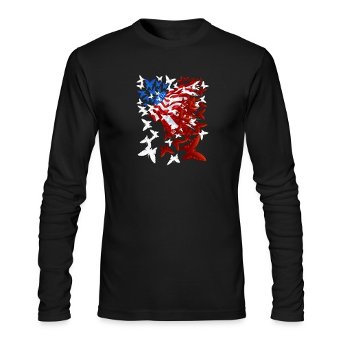The Butterfly Flag - Men's Long Sleeve T-Shirt by Next Level