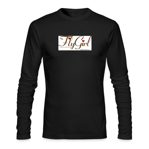 FlyGirlTextGray jpg - Men's Long Sleeve T-Shirt by Next Level