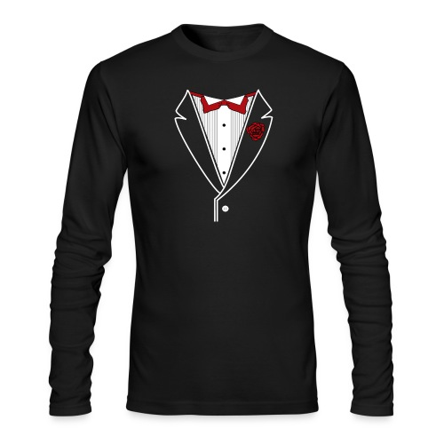 Tuxedo with Red bow tie - Men's Long Sleeve T-Shirt by Next Level