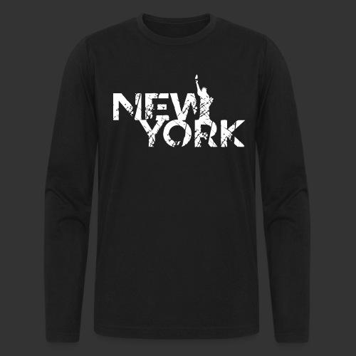 New York (Flexi Print) - Men's Long Sleeve T-Shirt by Next Level
